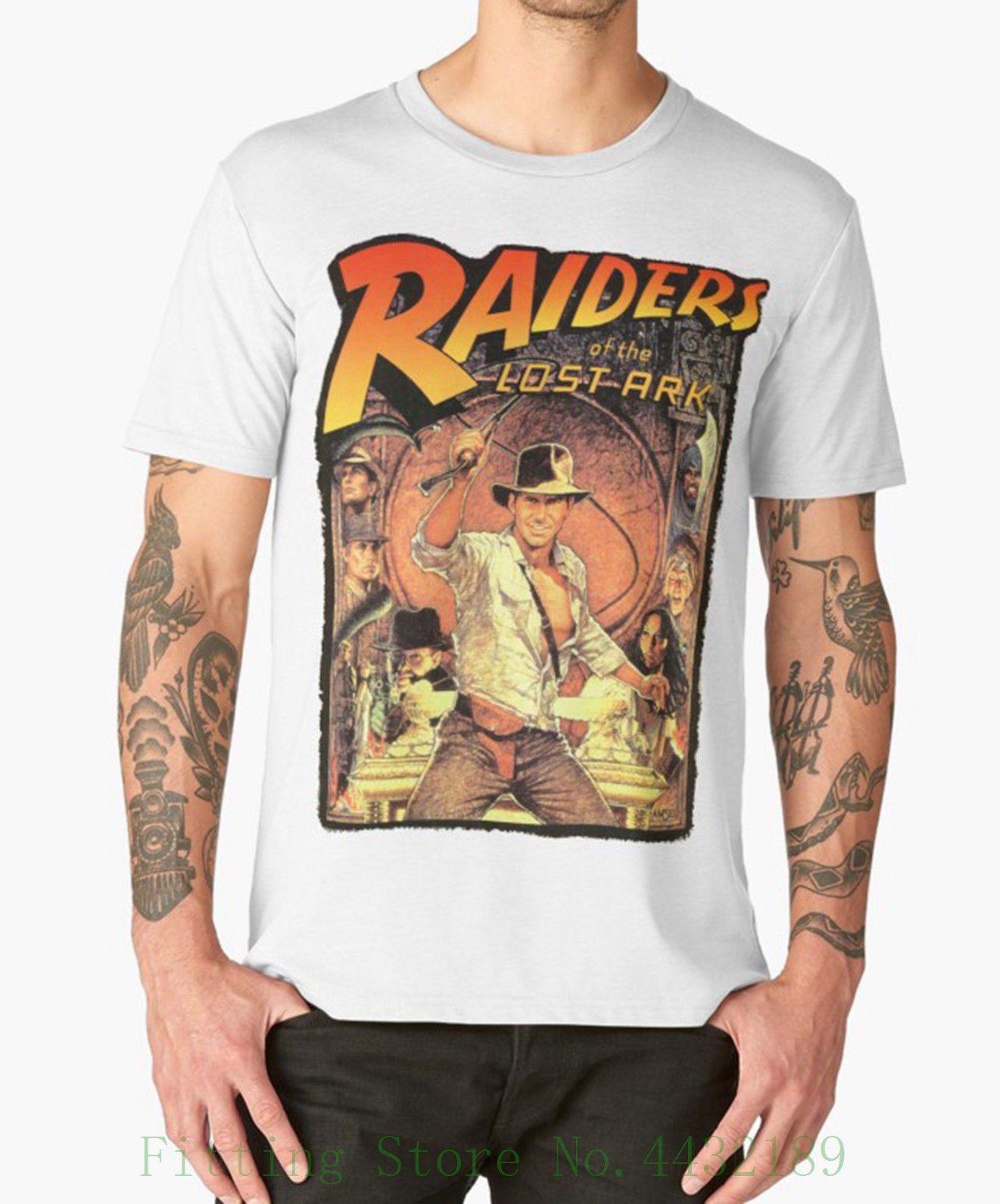 Compre Atacado Da Arca Perdida Camiseta Indiana Jones 80 s Culto Movie Film  Aniversário De Manga Curta Hipster Tees De Aaa888tshirts 4e40f5c6bdd