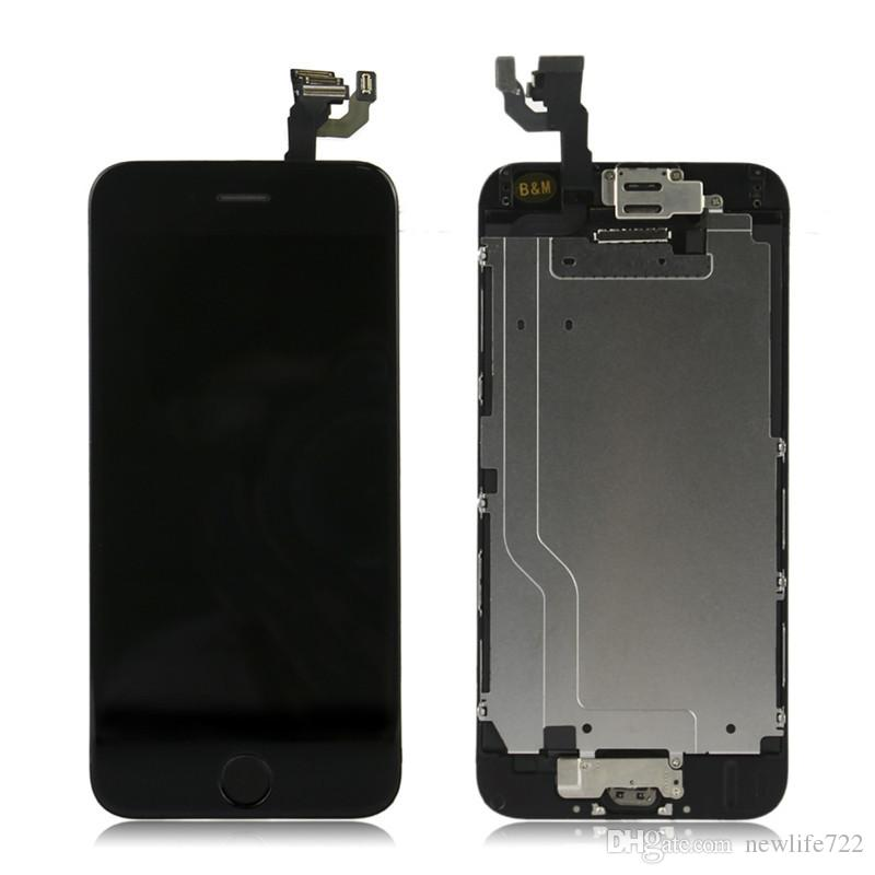 For Iphone 6 LCD Digitizer Touch Screen Display With Front Camera Home Button Completed Screen Replacement 4.7inch Cellphone Repair Parts