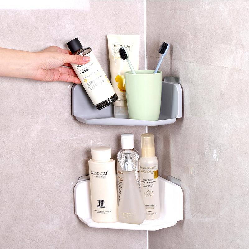 2018 Corner Drain Bathroom Shelves Bathroom Kitchen Free Punch Wall ...