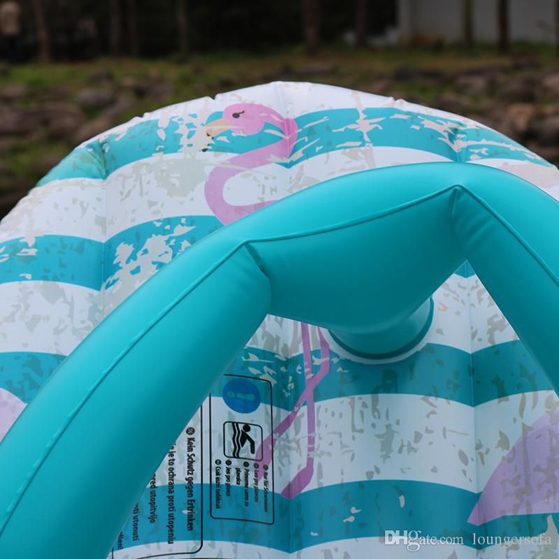 Фламинго шаблон бассейн плавает для летнего плавания творческий надувные тапочки плавающей строки водонепроницаемый просторные водные крепления большой площади 37xy х