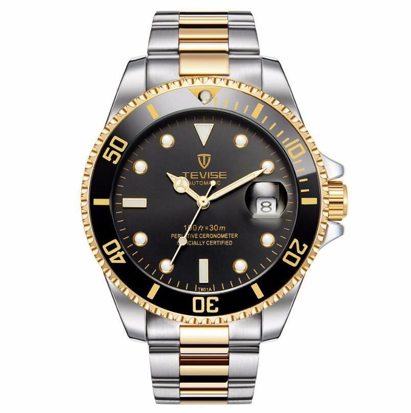 db1f8f4981e TEVISE Automatic Mechanical Watches Men Watch Relogio Automatico Masculino  Waterproof Sport Business Wristwatch Male Clock T 801 Online Watches  Diamond ...