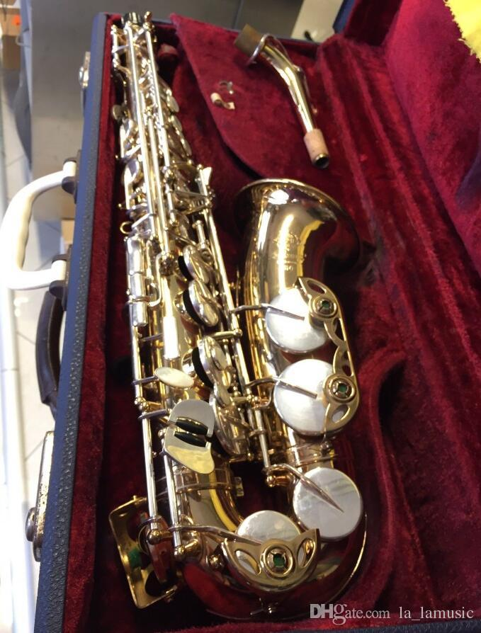 Engrave Selmer Mark VII Saxophone Mark 7 Gold Lacquer Jazz Instruments E  Flat Brass Sax with mouthpiece case gloves,reeds