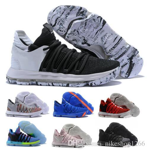 fb9ef56f036e ... sale hot kd 10 basketball shoes mens orange kevin durant 10s x pure  platinum bhm oreo
