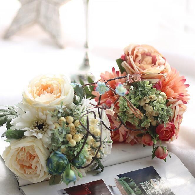 2018 Rose Gerbera Flower Ball Fake Flower Hydrangeas Colors Fake