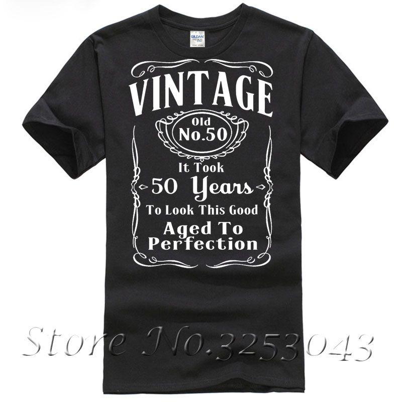37b481615 Vintage 50th Birthday T Shirt Funny Gift 50 Years Old T Shirt Tea Shirts  Fun Tshirts From Bstdhgate03, $11.01| DHgate.Com