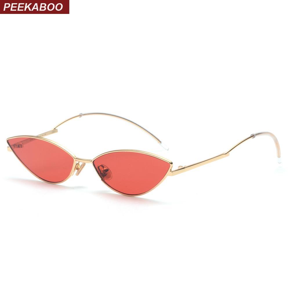 035a119f7b Peekaboo Cute Sexy Retro Cat Eye Sunglasses Women Small Black 2018 Red Cat  Eye Sun Glasses For Women Summer Accessories Uv400 D18101302 Sunglasses Sale  Kids ...