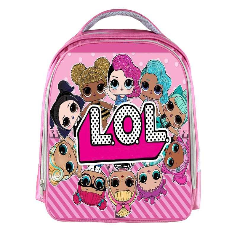 13inch Lol Dolls Girls Backpack Cartoon Printed School Bags School