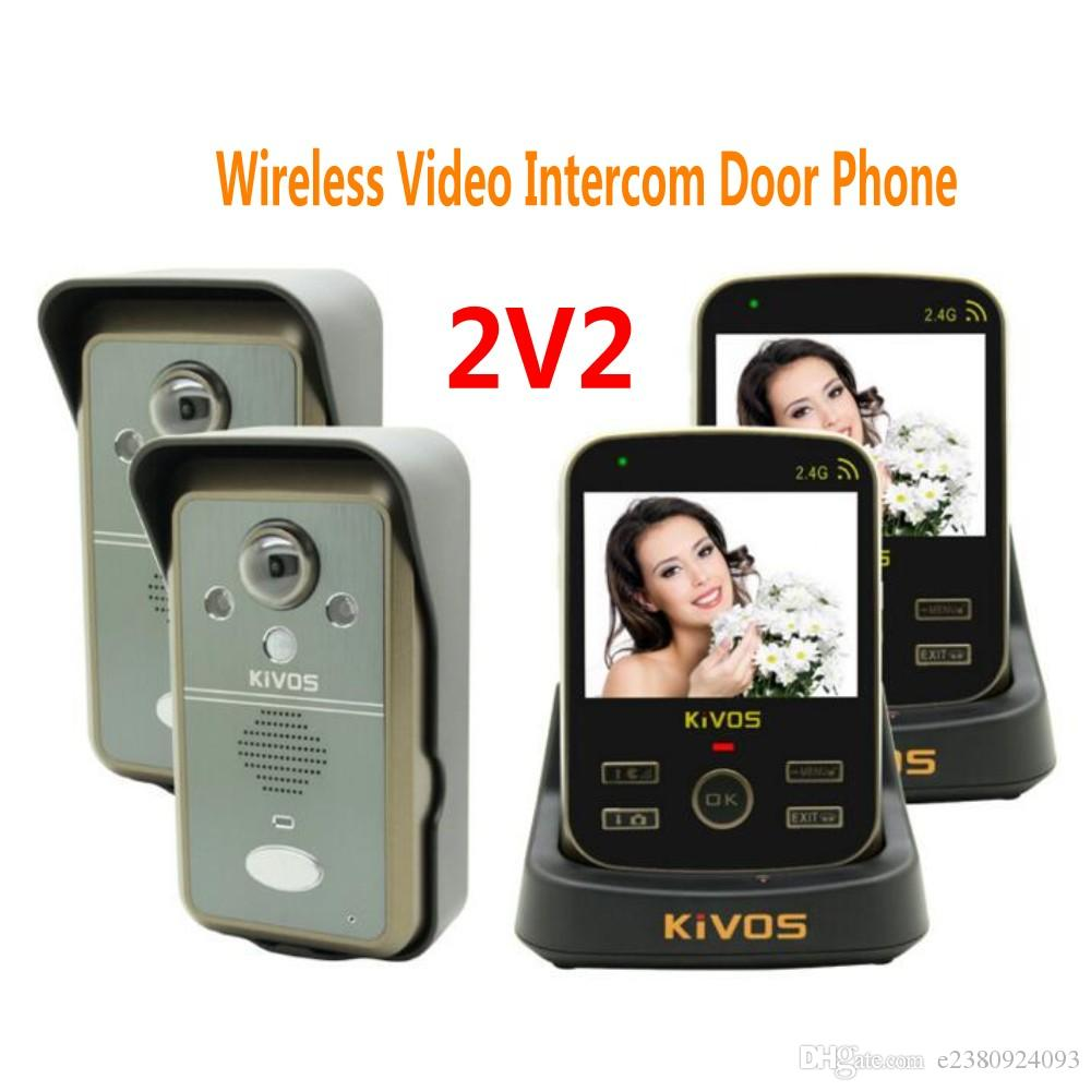 2018 Kdb302a 2v2 Wireless Intercom Video Doorbell Door Phone With 2