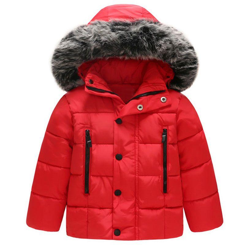 4bbbd836e Children Kids Winter Thick Hooded Outerwear Baby Boys Girls Jacket ...