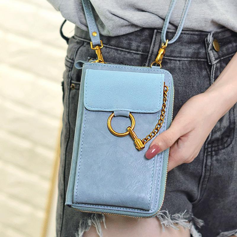 06cb73450c1d 2018 Fashionable Girl Shoulder Bag Crossbody Bags Mini Back Pack Wallet  Card Mobile Phone Bag Women Small Travel Pouch