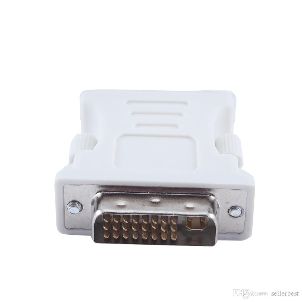 DVI-I 24 + 5 Erkek HD 15 Pin VGA Kadın Ekran Kartı Monitör Dönüştürücü VGA Adaptörü PC dizüstü Beyaz Ücretsiz Nakliye için Kullanın