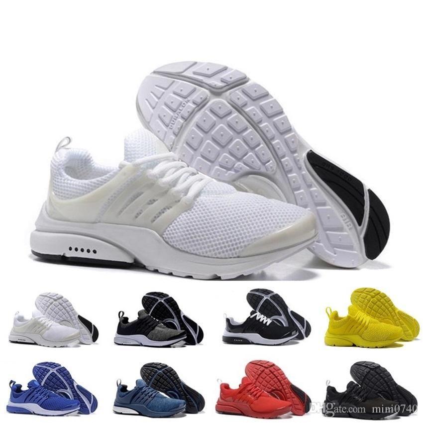 buy popular 86c85 2412a Compre Nike Air Presto TOP Presto BR QS Breathe Negro Blanco Hombres Mujeres  Zapatillas Zapatos Casuales Para Hombres Zapatos Deportivos, Zapatos Para  ...