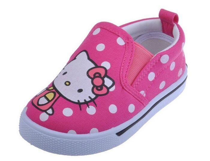97e465da0 Hello Kitty Kids Shoes 2016 Casual Canvas Shoes Kid Sneakers Toddler Girls  Sneakers Slip On Loafers Sneaker For Kids Navy Blue Shoes For Boys From ...