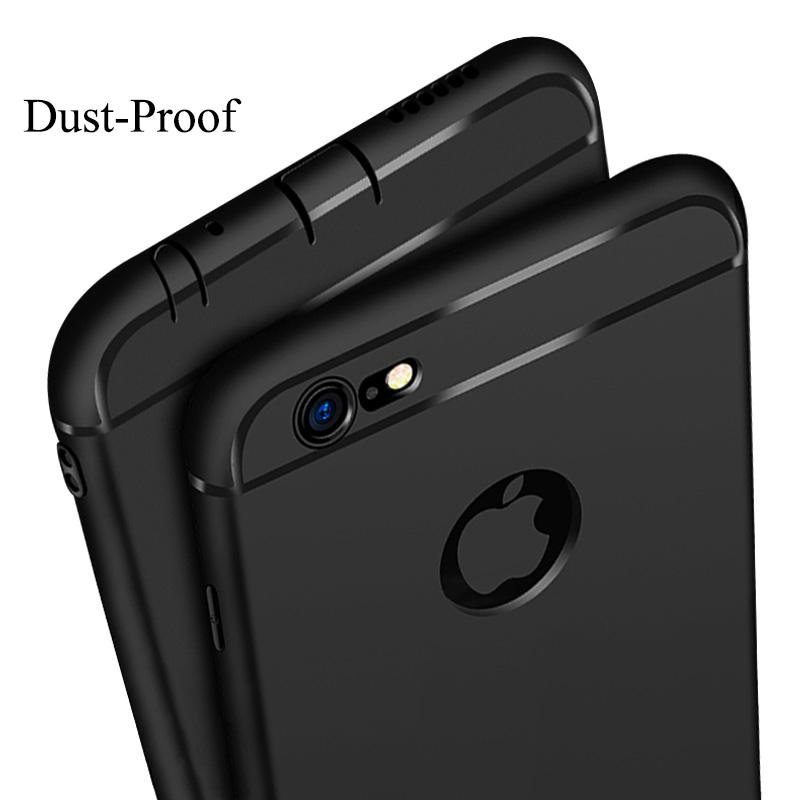 Soft Case For IPhone 7 6s 8 Plus Silicone Case Cover Shock Proof Protection  Cases Se 5s For IPhone 6 7 8 X Cover Fundas Cell Phone Wallet Case Leather  Phone ... 524a2d9104bfa