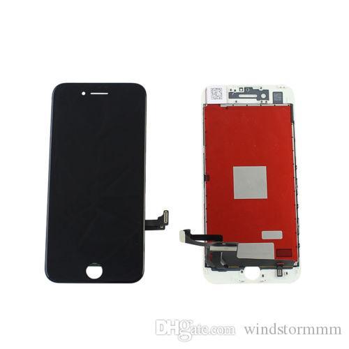 شاشة LCD تعمل باللمس لشاشة LCD لشاشة ابل اي فون 7 - شاشة زجاجية سوداء + اطار ابيض واسود - تقوم بتسليم البضائع خلال 24 ساعة