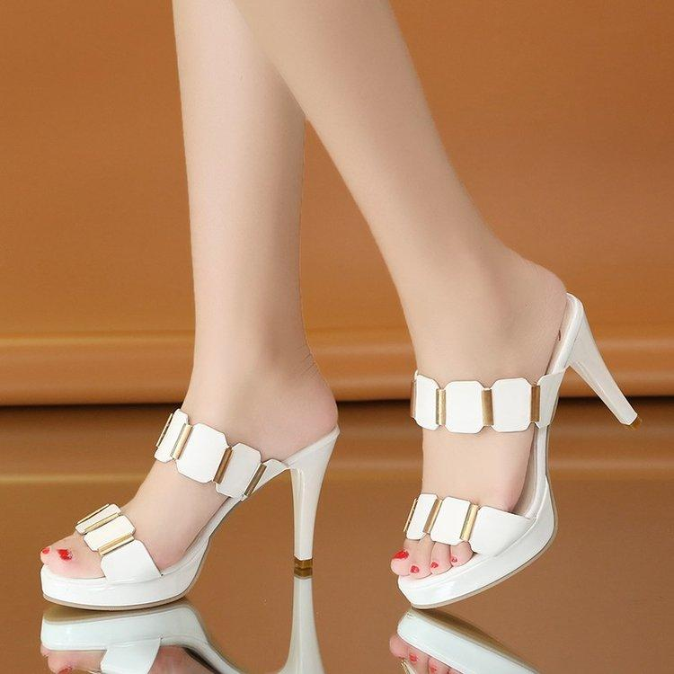 56350e96b4ab 2018 Summer Women Thin High Heels Platform Sandals Fashion Elegant Platform  Shoes For Party Ladies Street Style High Heels Heels 9cm Cheap Shoes For  Women ...