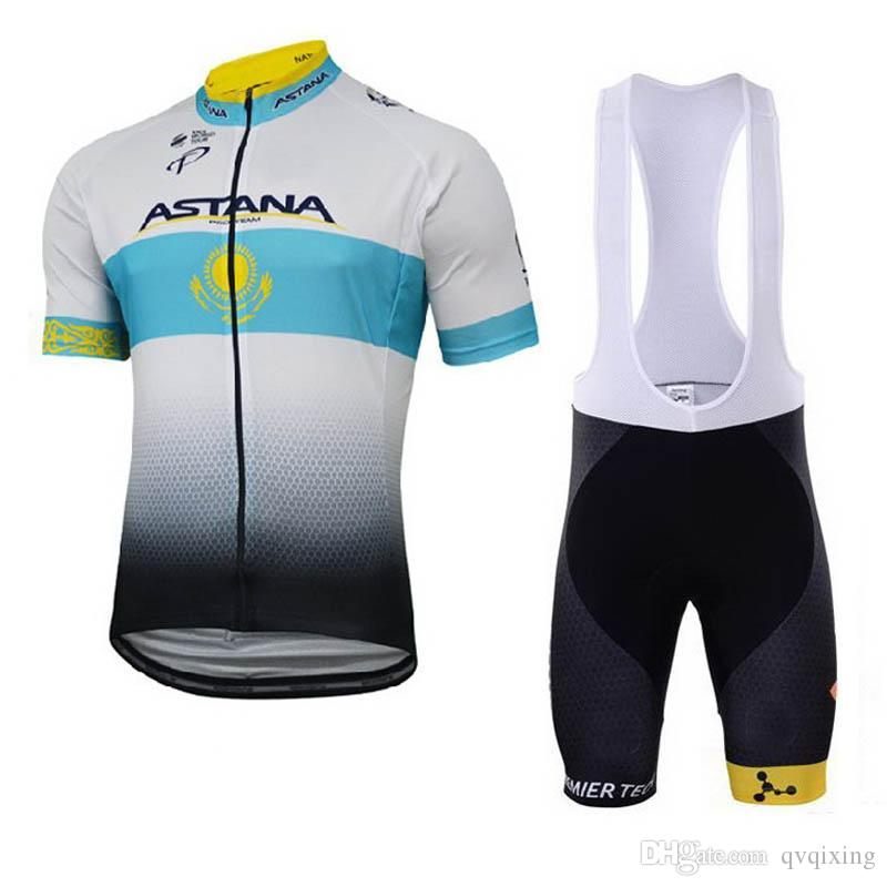 High Quality Men ASTANA Cycling Jersey Racing Clothing Summer Short Sleeve  Tops Bib Shorts Breathable Mtb Bike Clothes Maillot Y021815 Cycle Shorts  Castelli ... edc0ad44a