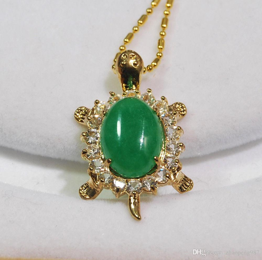 gemstone pendant color silver bling jewelry style cz teardrop my jade necklace green vintage jd