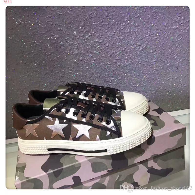 2018 YENI Marka Erkek ve Kadın Rahat Ayakkabı ile yıldız Moda Kaliteli Karışık Renkler Düşük Kesim Dantel-up Yarış Koşucu Ayakkabı