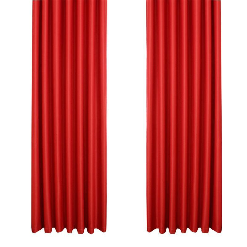 Blackout Curtain Room Thermal Insulated Grommet Darkening Drape for Bedroom Living Room 39 x 84 Inch (Red)