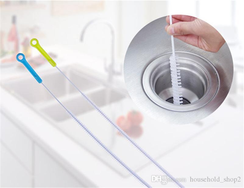 2018 Kanalizasyon lavabo Temizleme Fırçaları Ev Bükülebilir Lavabo Küvet Tuvalet Araştırmak Boru Yılan Fırça Araçları Yaratıcı Banyo Mutfa ...