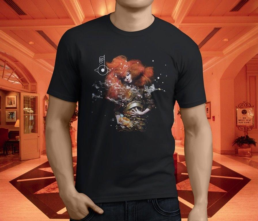 New Popular BJORK BIOPHILIA Men's Black T-Shirt Size S-3XL Mens 2018  fashion Brand T Shirt O-Neck 100%cotton T-Shirt