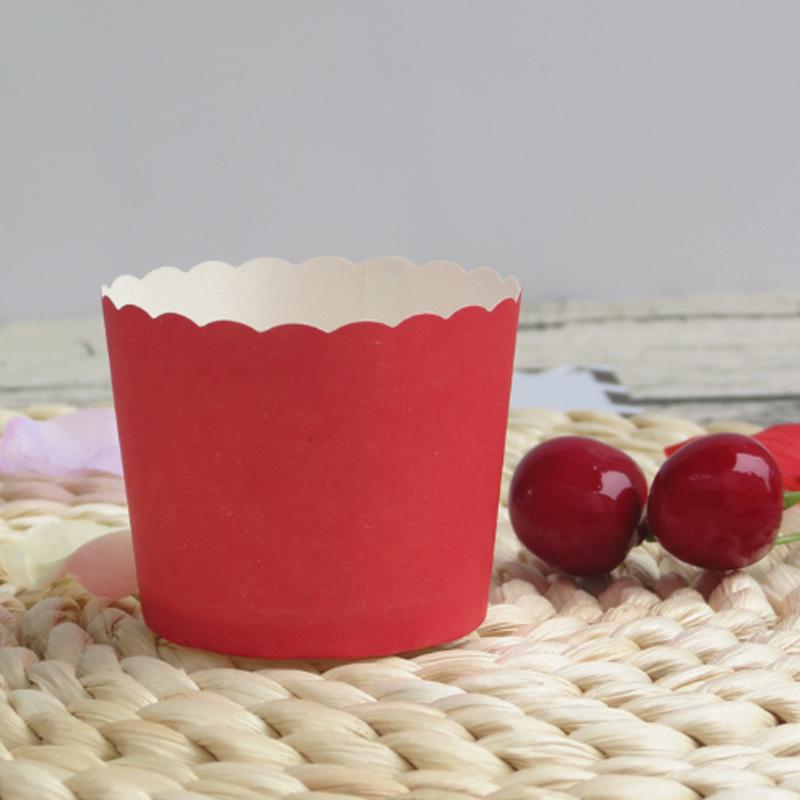 Pure Rose Pink Yellow Blue Green Purple Red Cupcake paper cake mini baking cup decorative wedding birthday party favors