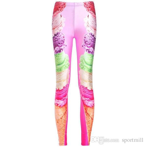 f6d2bc60a60d5d 2019 Ice Cream Pants Soft Cone Print Skinny Camouflage Leggings Gym Clothing  Sport Wear Fitness Sportwear Exercise Trousers From Sportmill, $13.69 |  DHgate.