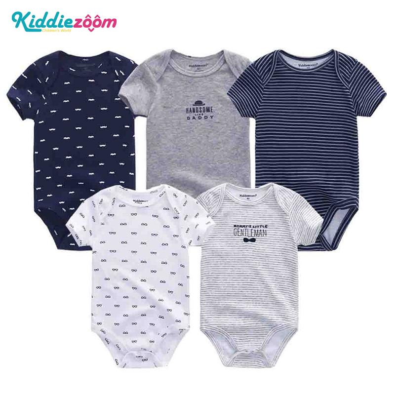b0bb9a45104f 2019 Newborn Baby Rompers Boy Playsuit Clothes 100% Soft Cotton Cute ...