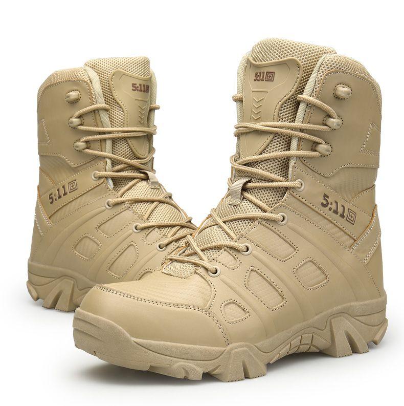 2018 Yüksek Kalite Ucuz Açik Yürüyüs Ayakkabilari erkek Yüksek top Ordu Taktik Egitim Görev Savas Çöl Botlari Sapatos Masculino