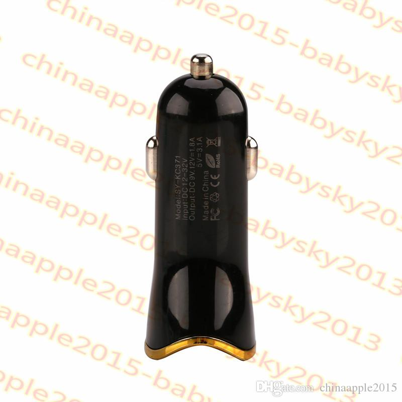 For iphone samsung car charger 5V 3.1A Qc 3.0 Fast Quick charging Car chargers for gps mpcamera
