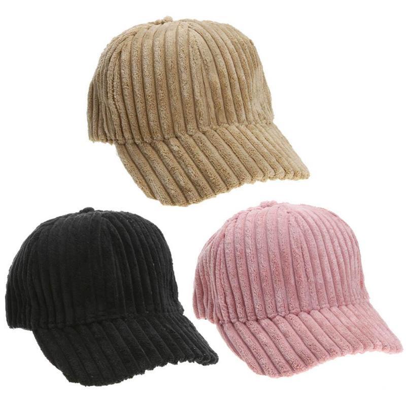 5380ccc63cc Soft Velvet Baseball Caps Unisex Women Men Adjustable Casual ...