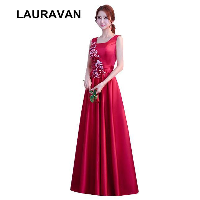 8220981d4527 Teens Burgundy Elegant Wine Red Bridesmaid Dresses 2018 Teen Formal Gown  Party Satin Dress For Girls Ball Gowns Bridesmaid Maxi Dresses Bridesmaid  Short ...
