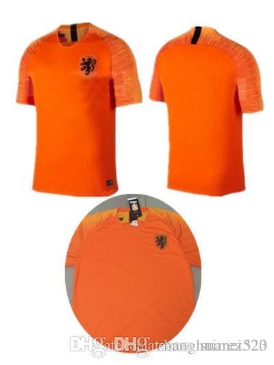 Compre 2018mundial Da Copa Do Mundo De Futebol Da Nederland Home Away  Orange Holanda Jersey Robben Sneijder 18 19 V.Persie Camisolas De Futebol  Da Holanda ... f69b8c1347348