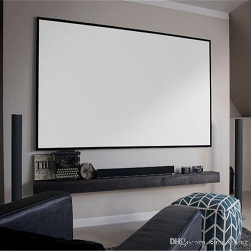 2018 16:9 4k Ultra Thin Bezel Fixed Frame Projector Screen With Hd ...