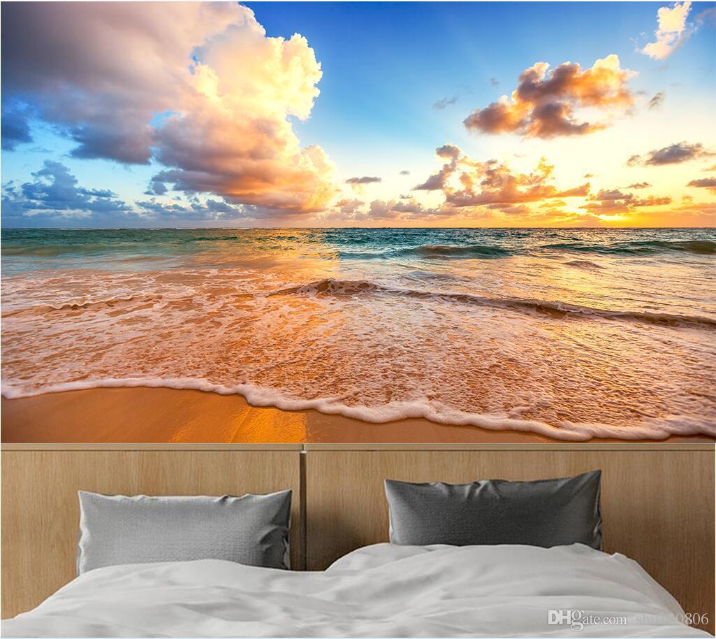 3d Wallpaper Custom Photo Sky Beach Surf Landscape Tv Background