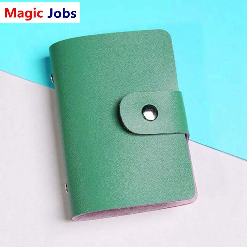Luciashop women wallet card id holders solid color pu leather luciashop women wallet card id holders solid color pu leather business card case card holder wallet 815 custom leather wallets handmade leather wallet reheart Image collections