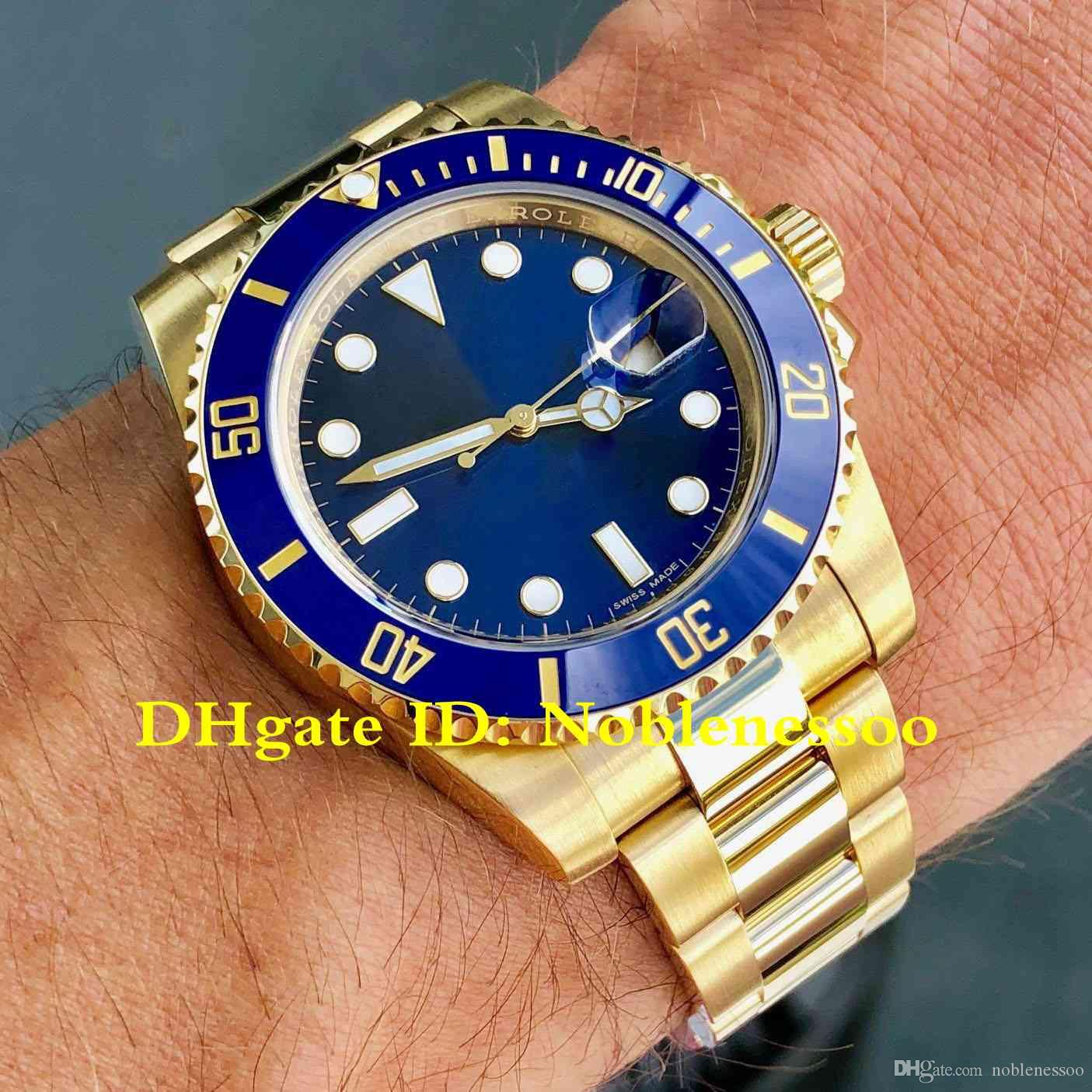 new product 75c97 652e6 5 Color Luxury Watch 40mm 116618LB Watch for Men Yellow Gold Blue Dial  116618 116613 116610LN Asia 2813 Movement Automatic Mens Watches