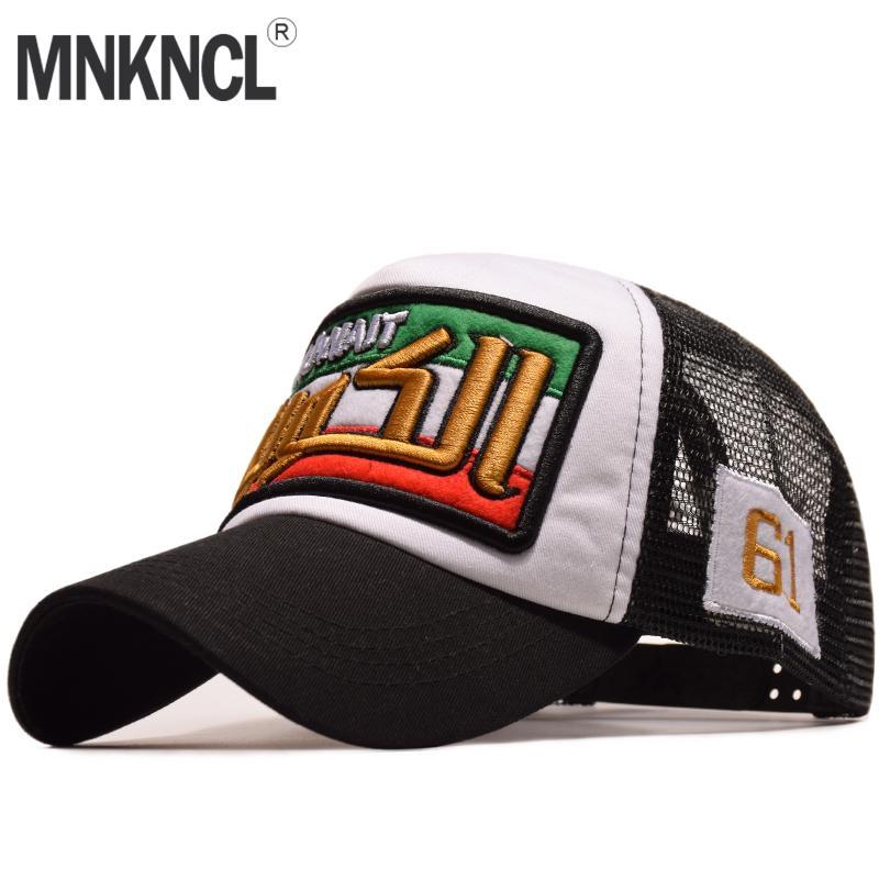 cd5498b148d MNKNCL Summer Baseball Cap Embroidery Mesh Cap Hats For Men Women Gorras  Hombre Hats Casual Hip Hop Caps Dad Casquette Brixton Hats Trucker Cap From  ...