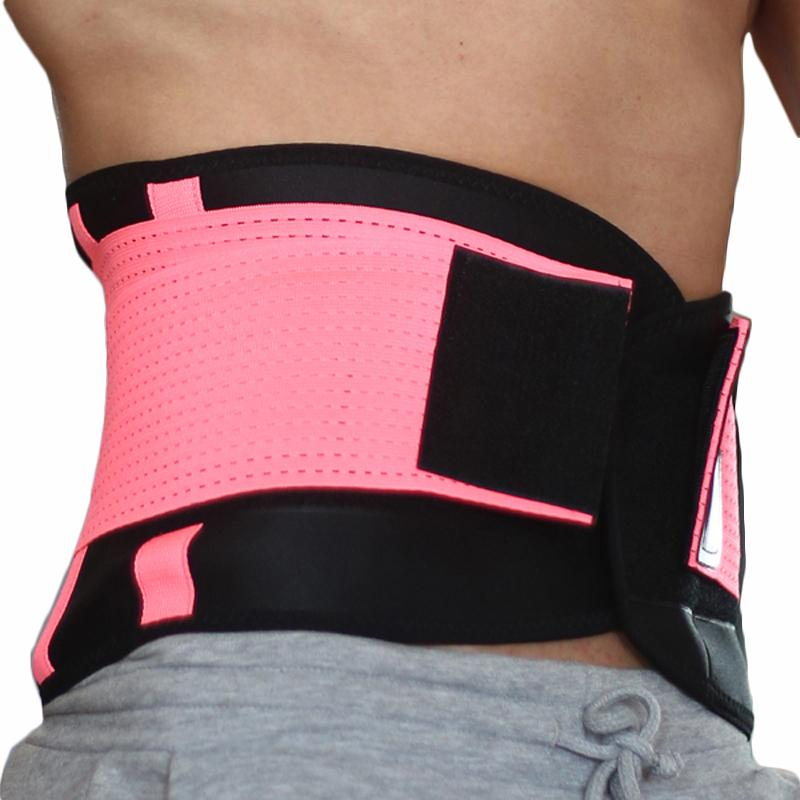 ffed3c32697 2019 2018 Sports Waist Support Breathable Neoprene Gym Waist Trimmer  Adjustable Slimming Fitness Belt Waist Shaper Modeling Straps Y1892612 From  Shenping03