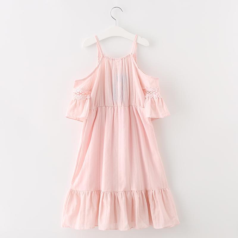 Hurave 2017 SUMMER new cute girls dress girl clothing fashion children clothes v neck dresses summer vestidos