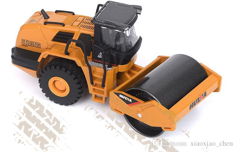1:50 scale alloy truck model, high-simulation alloy roller, sliding Engineering vehicle toy, collection model,