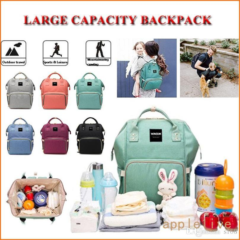 02f55c9fd6 2019 Wholesale Pockets Large Travel Diaper Backpack Baby Bag For Boys Girls  Waterproof With Infant Changing Pad Wipe Pocket Stroller Straps Bags From  S168, ...