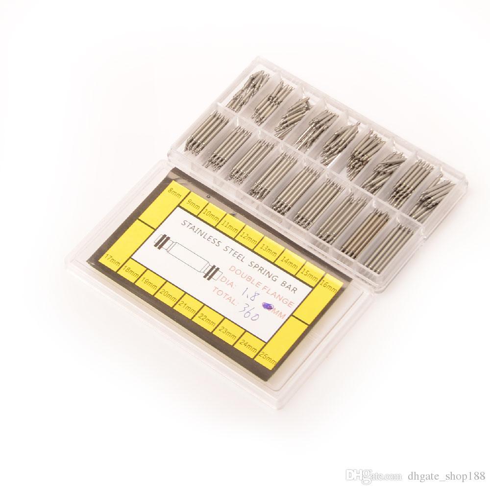 أدوات الشريط الربيع بار رابط دبابيس 1.8MM 8M-25M الفولاذ المقاوم للصدأ ووتش الربيع بار رابط دبابيس أداة سمك 1.8MM