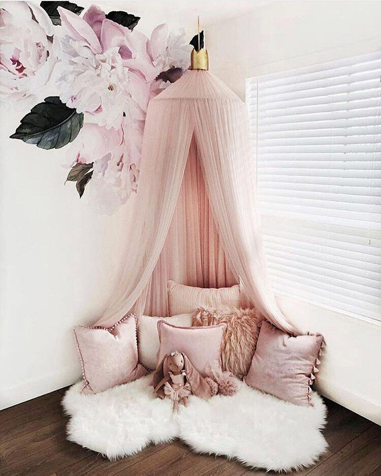 2018 Fashion Hanging Kid Bedding Round Dome Bed Canopy Mosquito Net ...