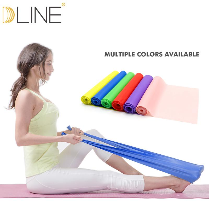 1.5m Pilates Elastic Band For Fitness Resistance Bands Rubber Bands Yoga Stretching Belt Pull up Gym Body Exercise Band