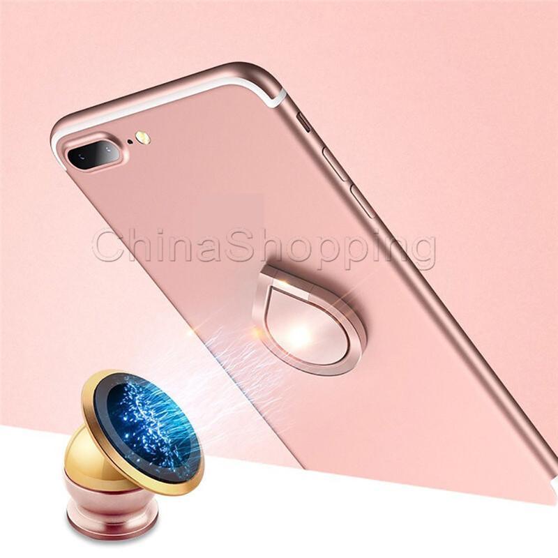 Titulaire de téléphone 360 anneau de rotation en métal nouveau style titulaire de téléphone cellulaire magnétique pour iPhone X universel tout téléphone portable avec paquet de vente au détail