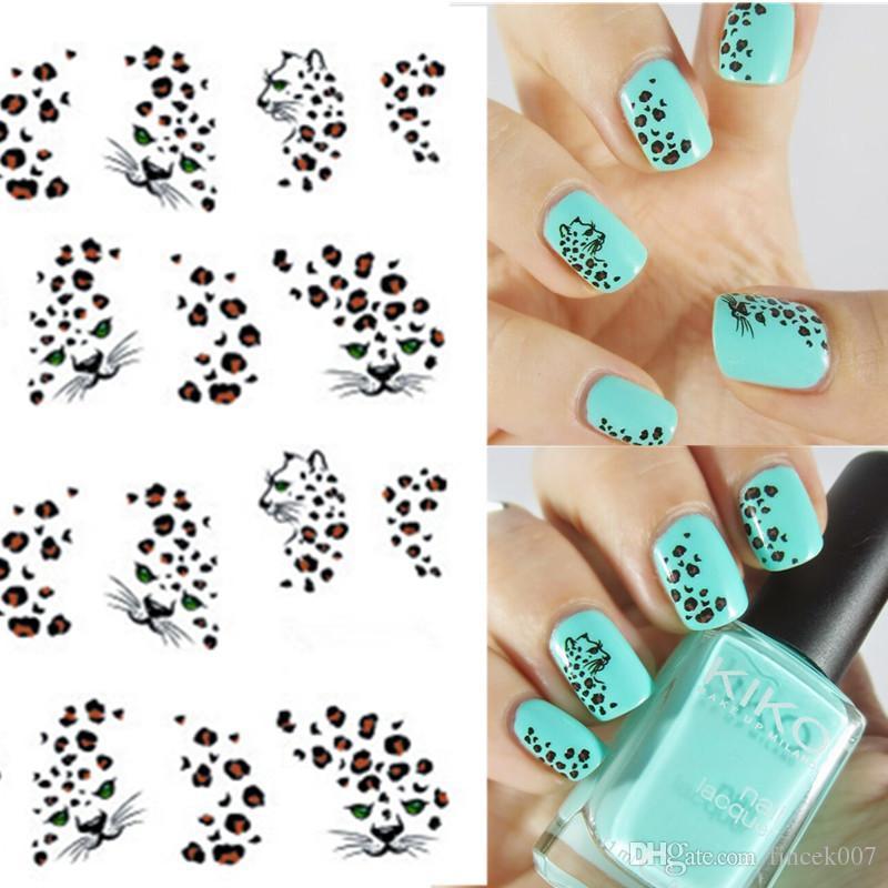 1 sheet Hot Leopard Nail Art Water Transfer Stickers Nails Wraps DIY Beauty  Nail Art Decals Decorations Nail Tools BEBLE581