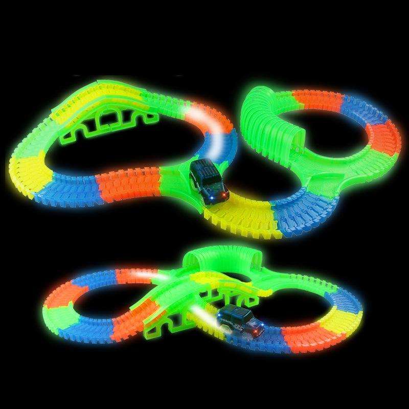Satın Al Aydınlık Yarış Arabası Pisti Araba Oyuncak Set Karanlıkta