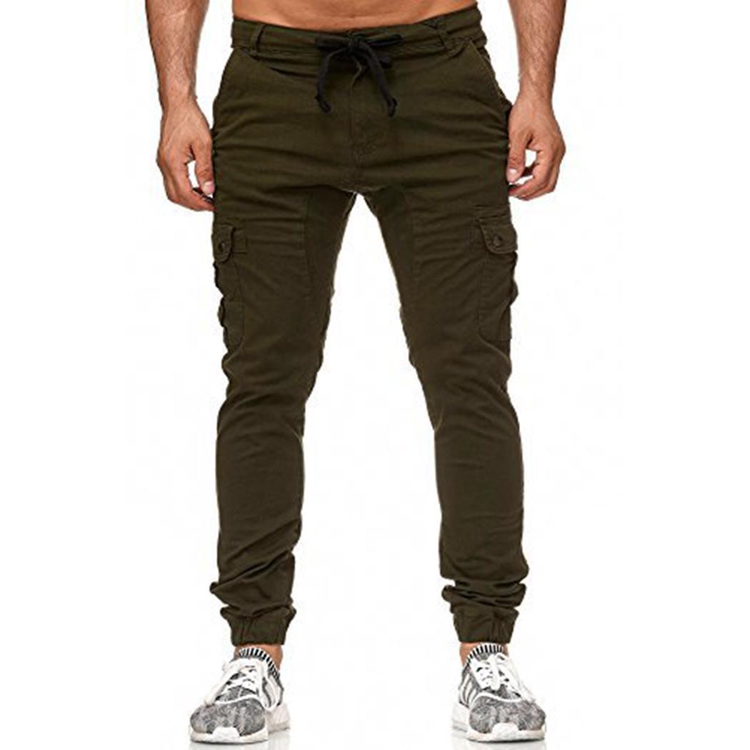 Compre Nuevos Hombres De La Moda Pantalones Joggers Marca Slim Fit Bolsillos  Masculinos Pantalones De Carga Pantalones Largos Casuales Pantalones De  Chándal ... e2cf10eb444